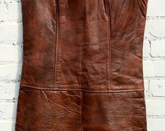 Vintage 60's leather dress
