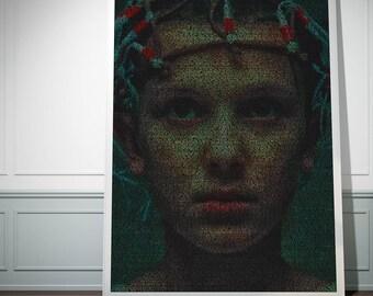 Eleven: Stranger Things Poster Script Print.