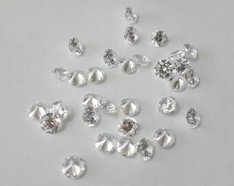 1.3mm CZ, loose, cubic zirconia, clear cz, melee, diamond cutting, 8 hearts 8 arrows, AAA cz, wholesale, 20pcs