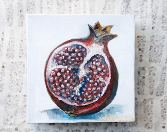 Foodie Home Decor: Pomegranate Oil Painting