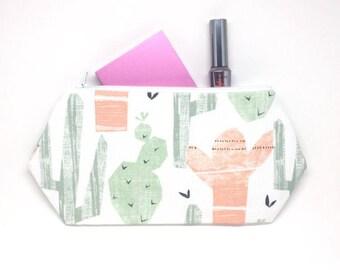 Cactus Zipper Pouch, Cactus Toiletry Bag, Cactus Print, Cactus Makeup Bag, Cactus Pouch, Cactus Tote Bag, Cute Makeup Bag Gift, Succulent