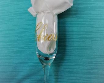 Cheers champagne Glass
