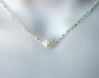 Single Fresh Water Pearl Necklace