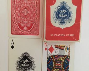 Whitecross , playing cards, red back, boxed deck.
