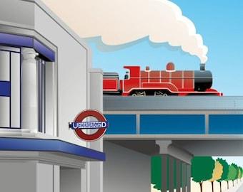 Balham Poster Vintage Style London