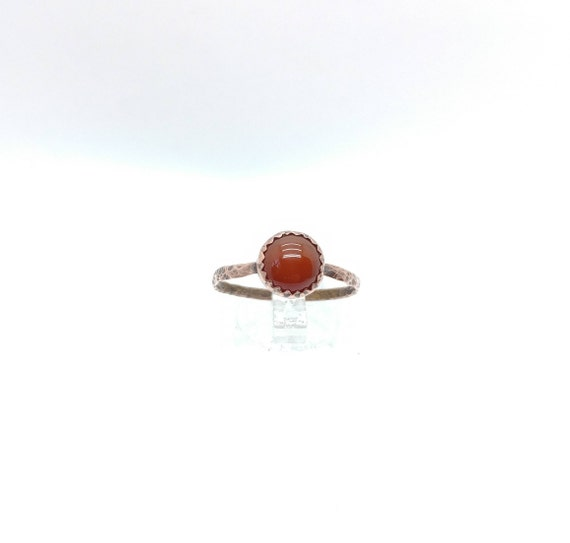 Natural Red Stone Ring | Copper Ring Sz 9.5  | Carnelian Stone | Carnelian Agate Ring | Carnelian Ring | Boho Ring | Gemstone Ring