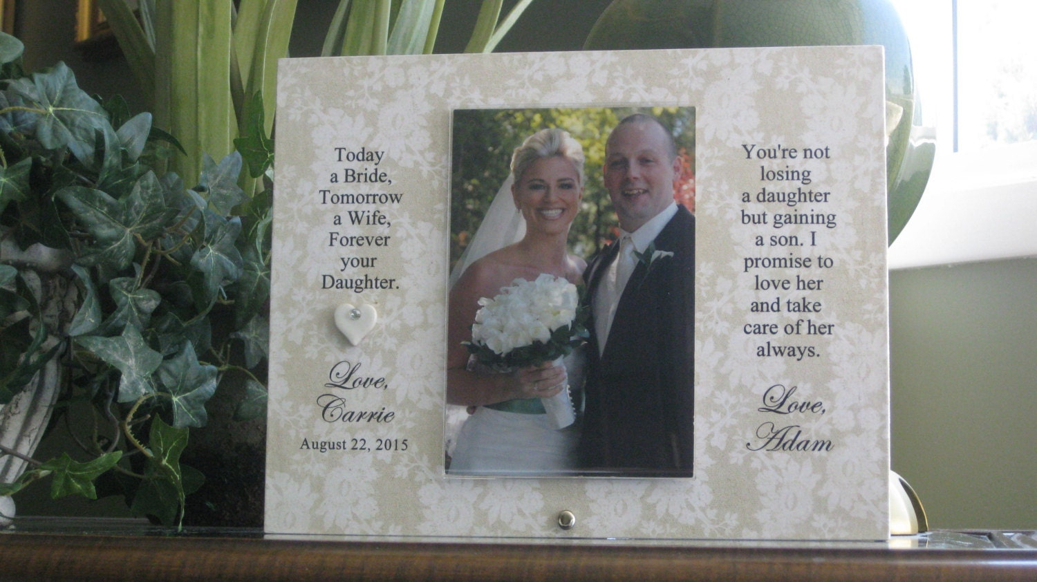 Parents Wedding Gift, Parents Wedding Frame, Parents of Bride ...