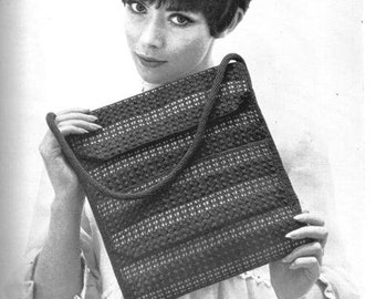Crochet Purse Pattern, Vintage, UK, 1960's, pdf, instant download