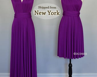 Purple Bridesmaid dress, party dress, convertible dresses, infinity dresses, multi way dress, prom dress, evening dress, cocktail dress