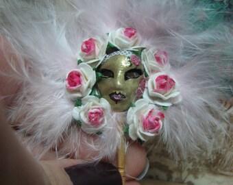 Venetian mask 1/12. Miniature for dollshouse