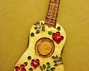 Wooden Guitar, Ukulele, Needle Minder, Needle Nanny, Embroidery, Cross Stitch