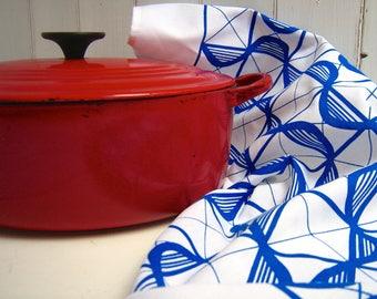 Pattern Screen Printed Tea Towel set of 2 / Kitchen Towels