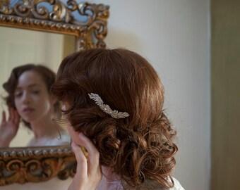 Peine de cabello de estilo vintage, estilo Art Deco peine, accesorio del pelo de la boda de década de 1930 - tocado de novia o damas de honor o desgaste de la tarde