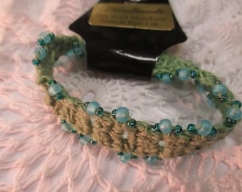 Braided Hemp Bracelet with Beads