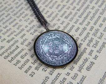 Sigil of Ameth -- Handmade Brass Talisman