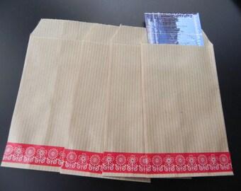 40 Kraft envelopes 7 x 12 cm and masking tape-flowers