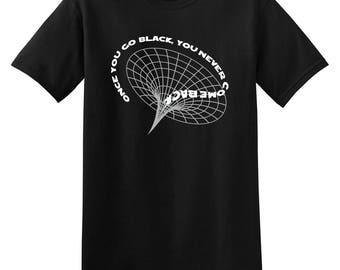 Black Hole Astronomy Adult Mens T-shirt Black