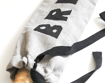 FREE SHIPPING Bag for bread - Linen bag - Reusable bag - Eco bag