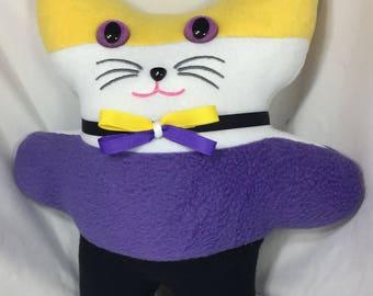 Non-binary Pride Flag Kitty Plushie