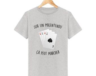 T-shirt poker sur un malentendu ça peut marcher homme
