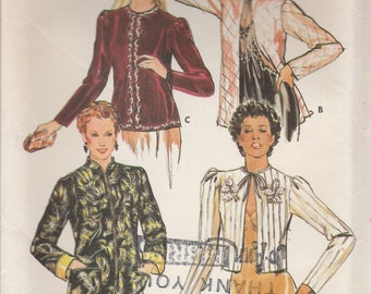 80s Evening or Bed Jacket Pattern Butterick 6846 Size 10 Uncut