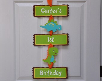 Dinosaur Door Sign, Dinosaur Birthday Party Door Sign, Dinosaur Welcome Sign