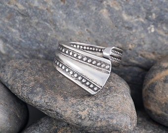 Silverware Handle Ring (Spoon Ring) Size 2 1/2 SR167