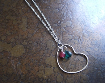 Rapture Glass and Czech Glass Silver Plated Chain necklace