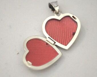 Sterling silver Locket Charm Michi, silver 925, fine jewelry,