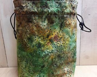 Batik Drawstring Project Bag 12 x 9 x 4