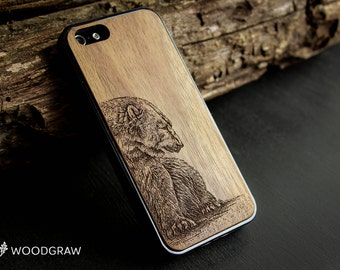 wooden iphone 7 case wood iphone 6 case bear iphone 5 case wooden iphone 6 case iphone 6 case wooden iphone case iphone 5 case wood woodgraw