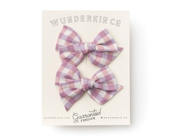 Mini Pinwheel // Savannah Pigtail Set