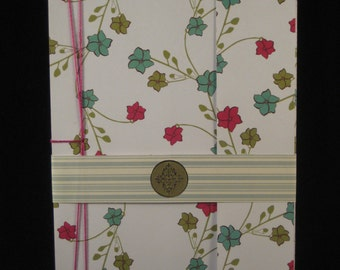 Notebook and Bookmark - Stab Binding Diary / Journal