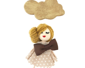 Doll Brown Brooch