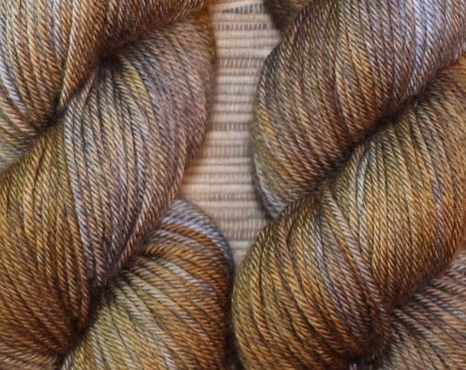 Hand dyed yarn - 'Mocha' - dyed to order on your choice of base yarn.
