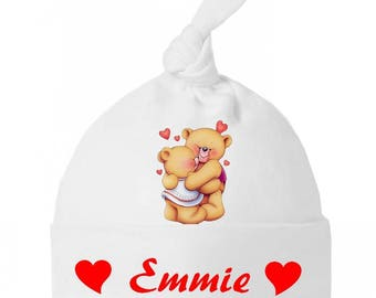 Beanie Baby Teddy bear bow personalized with name