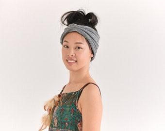 Organic Cotton Headband - Yoga Headband - Turban Hairband - Made in Japan Fashion Head Wear - Mens Wide Headband - Womens Hair Band - th-kdo