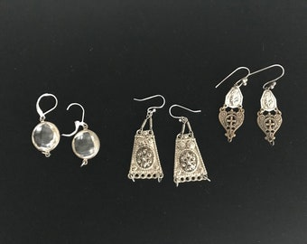 Vintage destash, earring parts in pairs for repurposed earrings and jewelry making