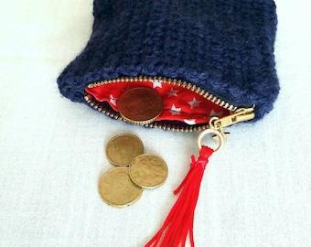 Handmade crochet coin purse / free combined shipping