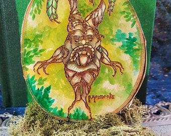 Birch Mandrake Plaque Harry Potter laser-cut hand-painted
