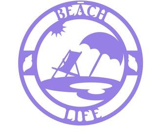 Beach Life Wall Decor/Metal Beach Life/Metal Beach Sign