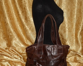 Genuine vintage leather bag Made in Italy