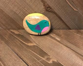 Sweet bird hand painted rock