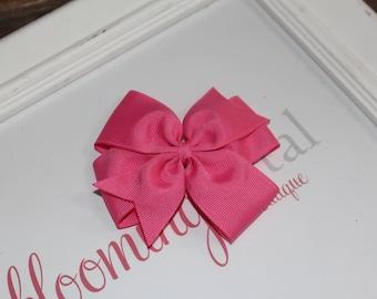 """Bubblegum Pink Large 4"""" Pinwheel Bow"""