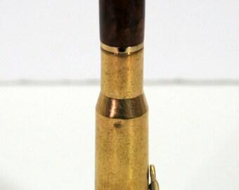 pen, ballpoint, 50 caliber, camphor  burl