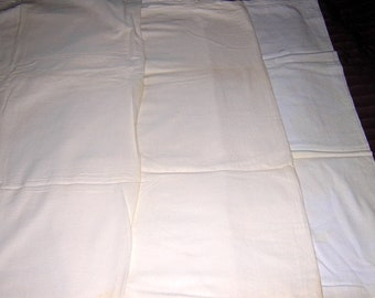 "Lot of 4 Vintage  white flour sacks- 35"" x 36"" each Feed Sacks"
