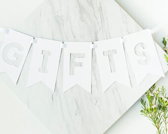 Gifts Sign, Gifts Banner, Wedding Signs, Wedding Banner, Gift Table Sign, Rustic Wedding, Wedding Decoration, Gifts Sign, Party Banner