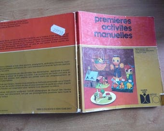 book : first manuel activities for children up to 7 years - fleurus ideas serie 107 - vintage 1981