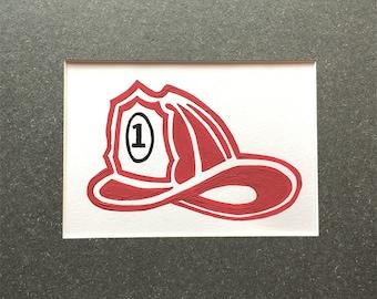 Simple and Sweet Fire Helmet