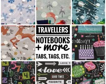Handmade Standard Size Traveler Notebooks, TN Inserts (Winter and Birthday Editions)